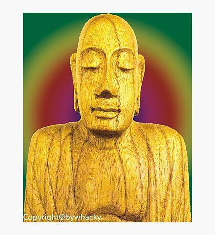Wooden Budha  Photographic Print