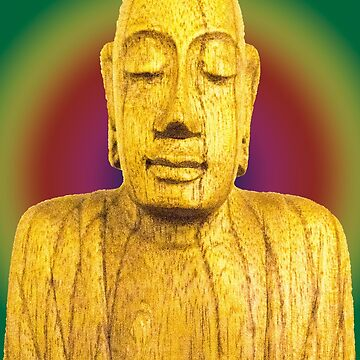 Wooden Budha  by bywhacky