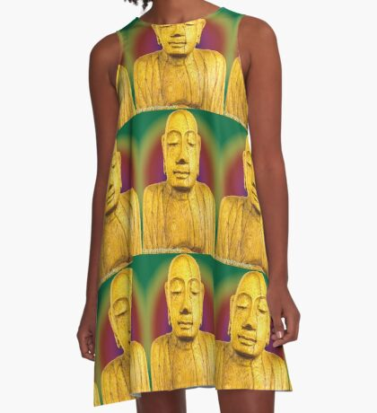 Wooden Budha  A-Line Dress