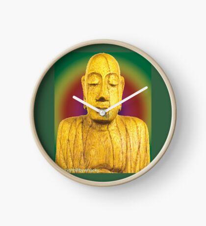 Wooden Budha  Clock