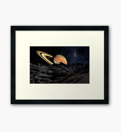 Saturn Research Station Framed Print
