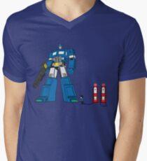 Little bot blue Men's V-Neck T-Shirt