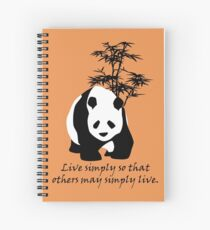 Live Simply So That Others May Simply Live Spiral Notebook