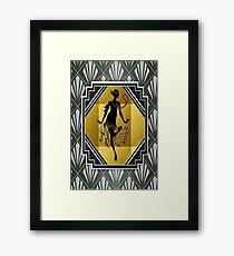 Art Deco Flapper Roaring 20's Gatsby Style Print Framed Print