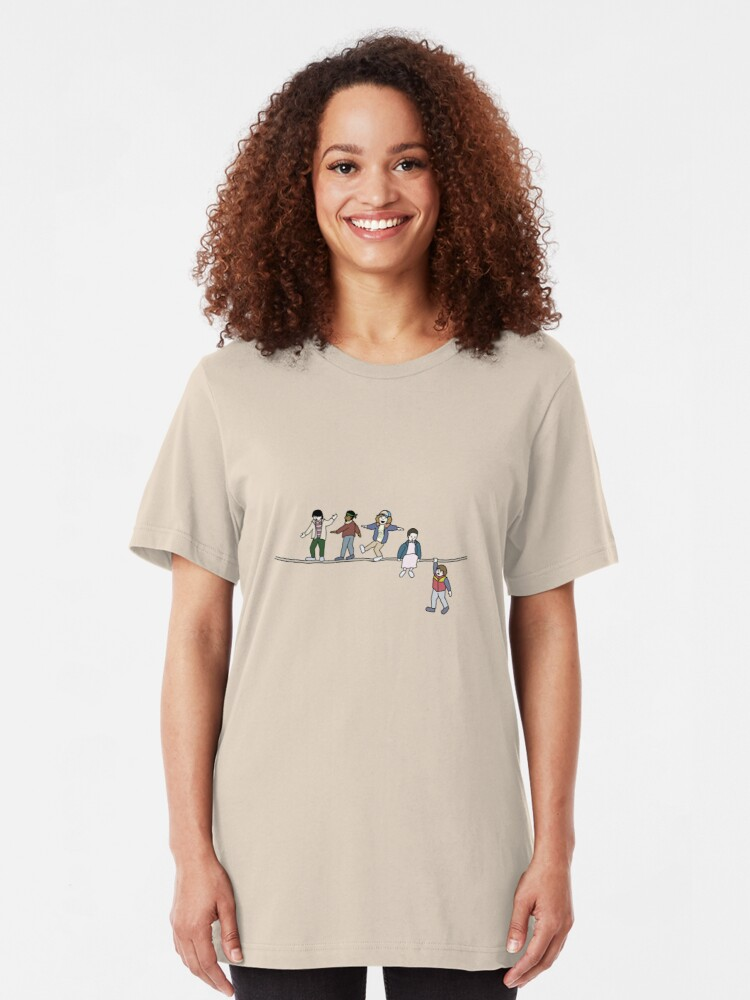 Alternate view of Stranger Things: The Acrobats and the Fleas Slim Fit T-Shirt