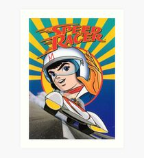 Speed racer, cartoon t-shirt Art Print