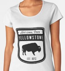 Yellowstone National Park Wyoming Badge Women's Premium T-Shirt