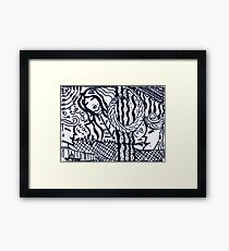 Lines and girls Framed Print