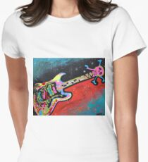 Space Guitar Women's Fitted T-Shirt