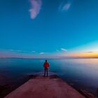 Sunset at the sea, Trieste by zakaz86