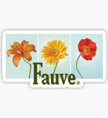 Fauve Flowers Sticker