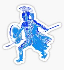 Greek hoplite warrior Sticker