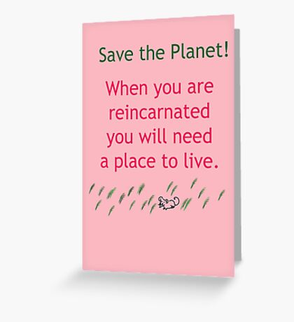 Reincarnation Greeting Card
