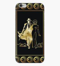 Art Deco Mobster and Mistress Gold Foil Design iPhone Case