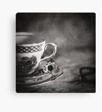 Vintage Teacup Still Life Canvas Print