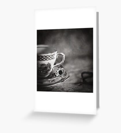 Vintage Teacup Still Life Greeting Card