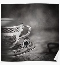 Vintage Teacup Still Life Poster
