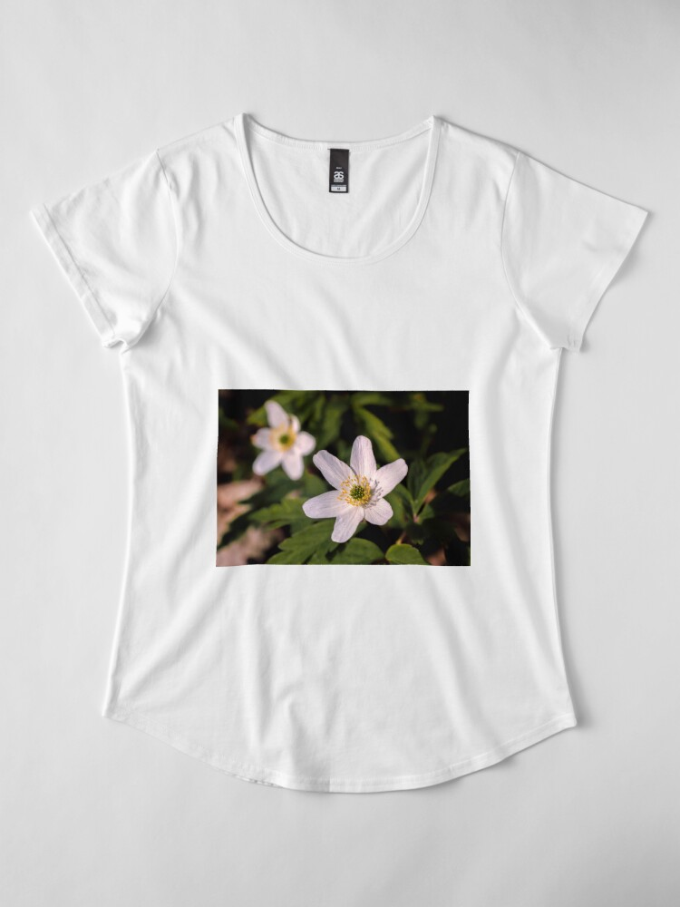 Alternate view of Wood Anemone Premium Scoop T-Shirt