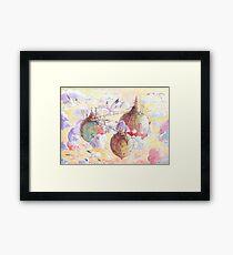 Three worlds Framed Print