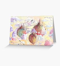 Three worlds Greeting Card