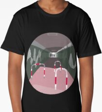 0104 Bicycle slow through tunnel - circle Long T-Shirt