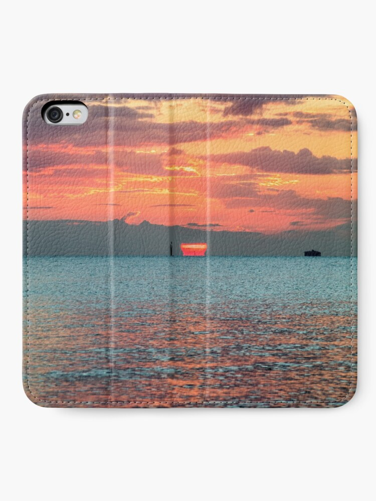 Alternate view of Solent Sunrise iPhone Wallet