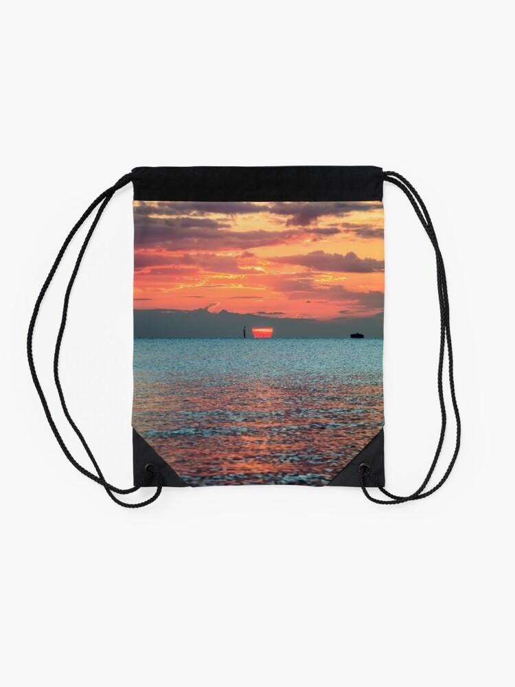 Alternate view of Solent Sunrise Drawstring Bag