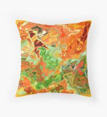 psychedelic ART, hand DRAWN bit by bit digi Throw Pillow