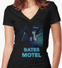 bates motel Women's Fitted V-Neck T-Shirt