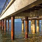 0042 Under the pier - Lorne by Hans Kawitzki