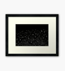 Flowers | Pop Art | Flowers at Midnight | Flower | Framed Print