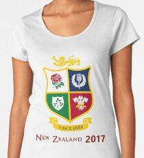 British Lions 2017 Zew Zealand Rugby Union Women's Premium T-Shirt