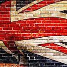 Union Jack wall graffiti pants by Mark Williams