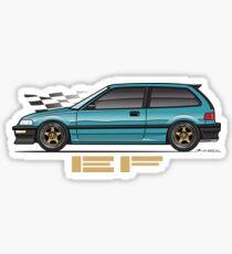 EF aqua Sticker