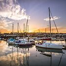 Ryde Harbour Sunset by manateevoyager