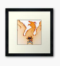 Natsu : rage Framed Print