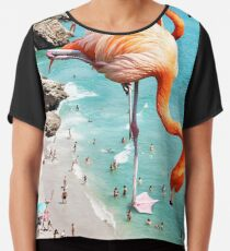 Flamingos am Strand #redbubble #decor Chiffontop