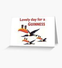 Vintage Guinness Beer Ad Toucans Greeting Card