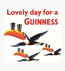 Vintage Guinness Beer Ad Toucans Photographic Print