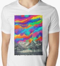 Skyfall, Melting Northern Lights V-Neck T-Shirt