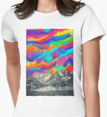 Skyfall, Melting North Lights Womens Fitted T-Shirt