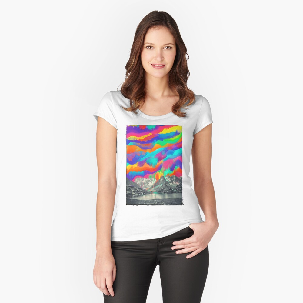 Skyfall, Melting Northern Lights Fitted Scoop T-Shirt