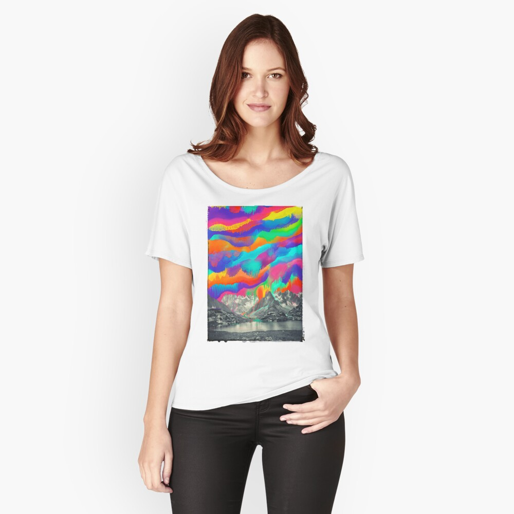 Skyfall, Melting Northern Lights Relaxed Fit T-Shirt