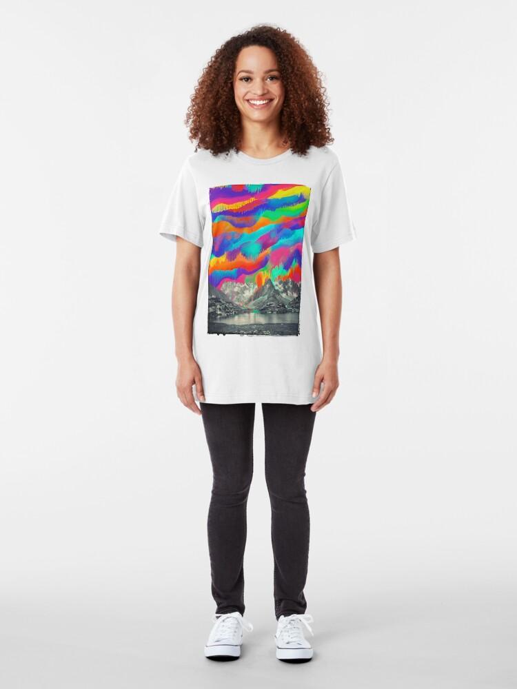 Alternate view of Skyfall, Melting Northern Lights Slim Fit T-Shirt