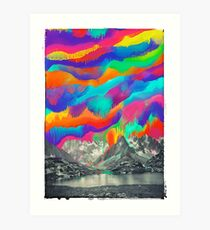 Skyfall, Melting Northern Lights Art Print