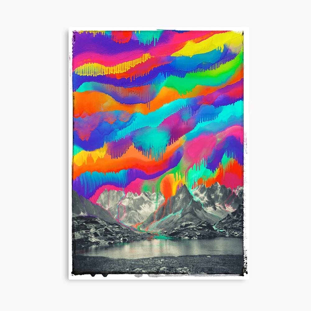 Skyfall, Melting Northern Lights Canvas Print