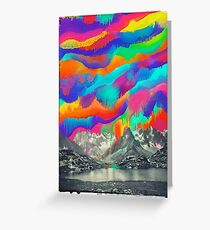 Skyfall, Melting Northern Lights Greeting Card