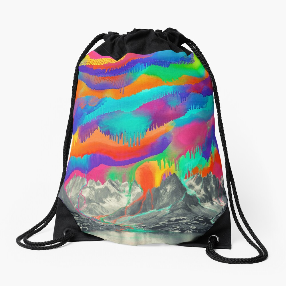 Skyfall, Melting Northern Lights Drawstring Bag