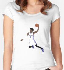 De'Aaron Fox Dunk Women's Fitted Scoop T-Shirt