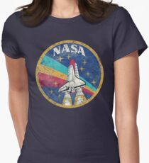 Nasa Vintage Colors V02 Women's Fitted T-Shirt